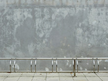 Aged Street Wall With Bicycle Parking