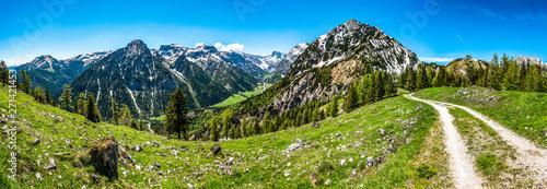 view from feilkopf mountain in austria