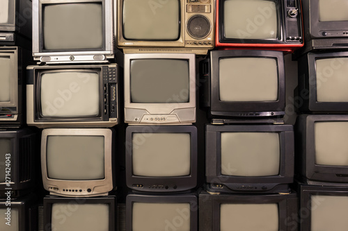 Photo  Old tv set