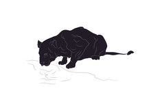 Vector Illustration Of A Lione...