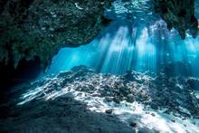 Underwater Gran Cenote Yucatan...