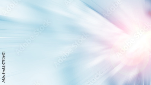 3D Rendering of abstract fast moving stripe lines with glowing sun light flare. High speed motion blur. Concept of leading in business, Hi tech products, warp speed wormhole science.