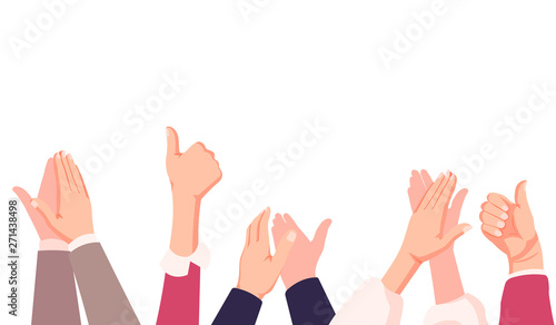 businessman hands clapping Wallpaper Mural