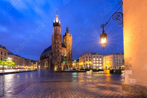 Fototapeta Main market square, Krakow, Poland obraz