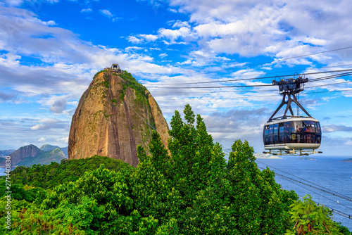 Aluminium Prints Brazil The cable car to Sugar Loaf in Rio de Janeiro, Brazil