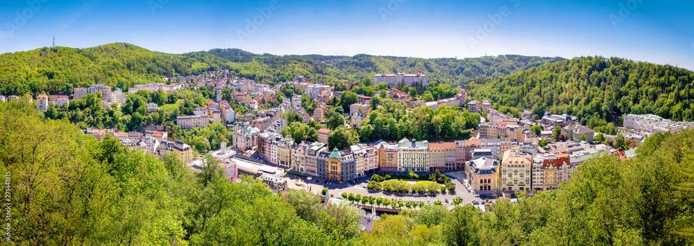 Fototapeta karlovy vary city panorama czech republic