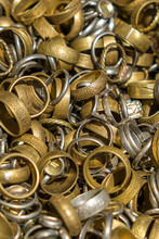 Bronze And Iron Rings Of The Vikings (replica), Close-up.