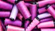 canvas print picture - purple spools of thread