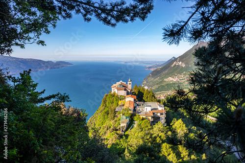 """Eremo di Montecastello"", a small church at the top of the mountain near Tignale, on Garda Lake Tablou Canvas"