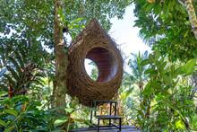A Bird Nest Recreation Area In The Jungle Near The Rice Terraces In Island Bali, Indonesia