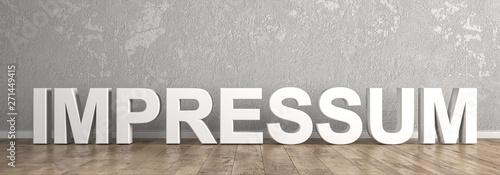 Fototapeta Impressum Überschrift für Homepage obraz