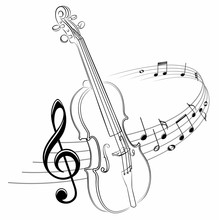 The Stylized Symbol With Music...