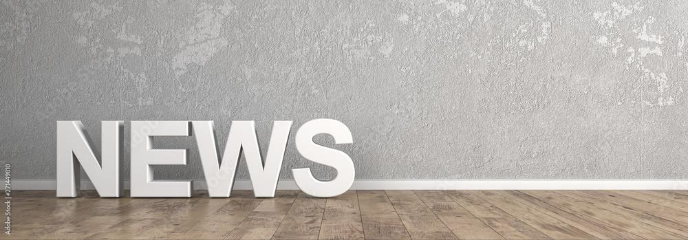 Fototapety, obrazy: News Schriftzug für Homepage