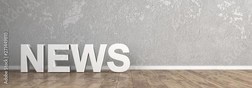 Fototapeta News Schriftzug für Homepage obraz