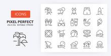 Beach Line Icons 256 X 256