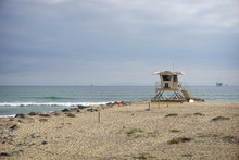Lifeguard Tower On Southern Ca...