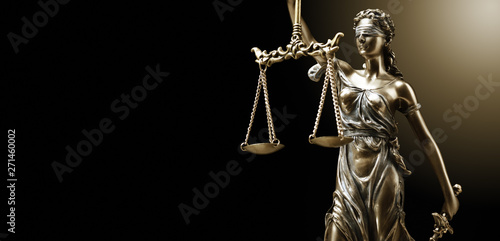 Fototapeta  Themis Statue Justice Scales Law Lawyer Concept