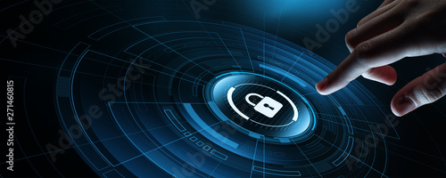 Fotografía Cyber Security Data Protection Business Privacy concept