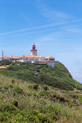 Fototapeta na wymiar Cabo da Roca summer in the fog