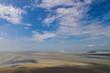 blue sky muted ground