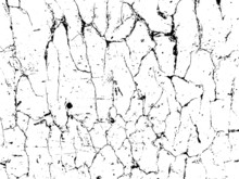 Vector Crack Texture. Grunge Crash Scratch. Isolated Broken Old Damage Rust. Overlay Noise And Grain Dry Texture.