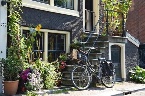 Türaufkleber Fahrrad Fahrrad in Amsterdam