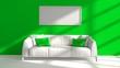 Leinwanddruck Bild - 3D illustration of interior design