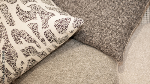 throw pillows overlap Canvas Print