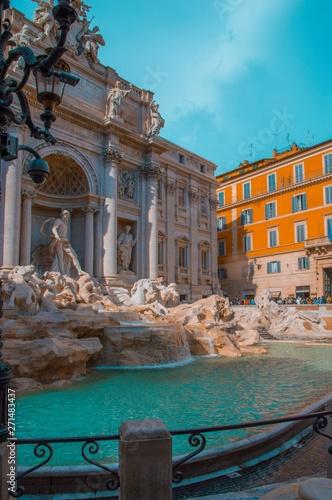 Poster Commemoratif trevi fountain in rome