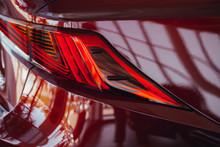 Closeup Of Car Tail Light On A Modern Car