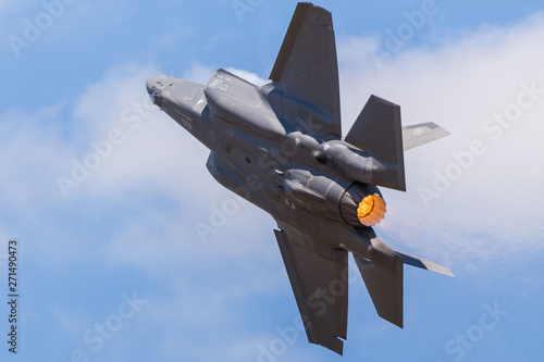 Photo US Air Force F-35A Lightning II pictured at the 2018 Royal International Air Tattoo at RAF Fairford in Gloucestershire
