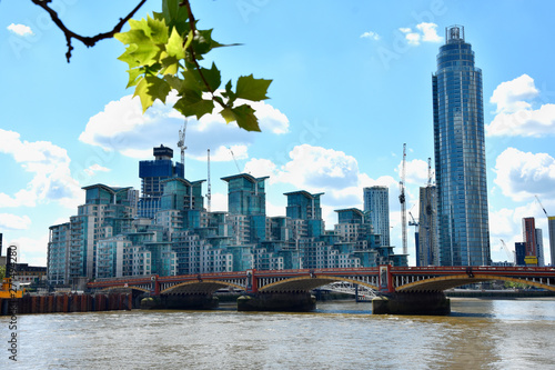 Stampa su Tela  Skyscrapers of the City of London over the Thames , England