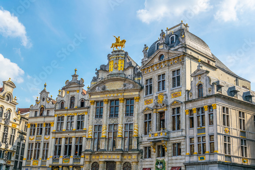 Colorful facades of houses situated on Grote Markt in Brussels, Belgium Fototapeta