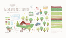 Farm And Agriculture. Vector C...