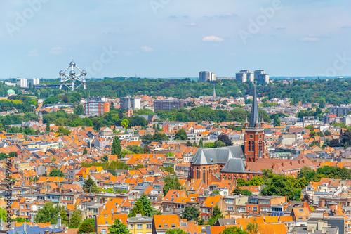 Photo Aerial view of Brussels from Koekelberg basilica in Belgium