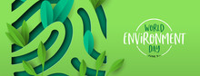 Environment Day Banner Of Gree...