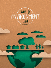 Environment Day Card Of Green ...