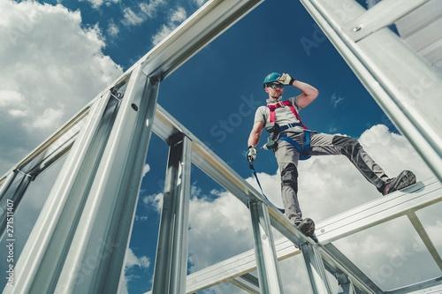 Valokuva  Working Using Safety Harness