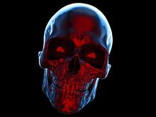 Dark Smiling Skull With Red Fr...