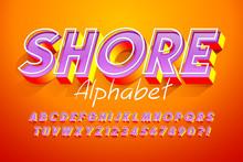 Colorful 3d Display Font Design, Alphabet, Letters
