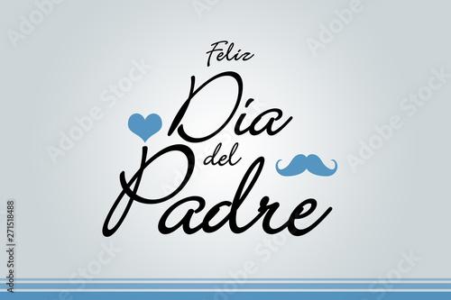 Fotografie, Obraz  Feliz día del padre