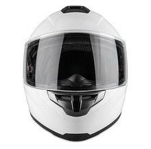 White Motorcycle Carbon Integr...
