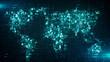 Leinwanddruck Bild - Global business cloud computing service of big data information technology  - Conceptual 3D render