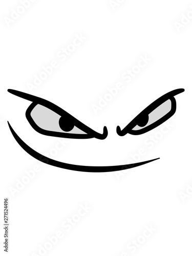 mund gesicht böse augen gefährlich gemein comic cartoon clipart design logo anse Wallpaper Mural