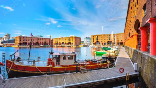 Royal Albert Dock in Liverpool, UK Obraz na płótnie
