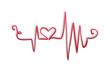 Heart beat symbol vector