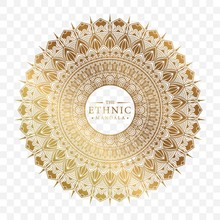 Elegant Ornamental Mandala Background Design With Gold Color