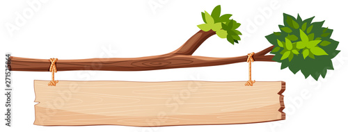 Fotografía tree branch with wooden sign