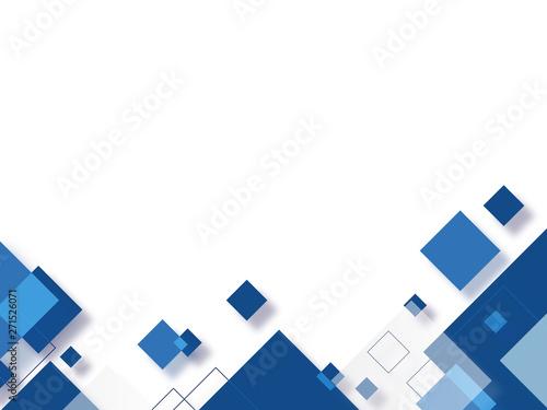 Fotografie, Obraz 紺色の四角形の背景