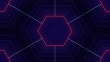 Retro Sci-Fi Background Futuristic Landscape Of The 80`s. Digital Cyber Surface. Suitable For Design In The Style Of The 1980`s. Kaleidoscope Pattern Ideal For Technology